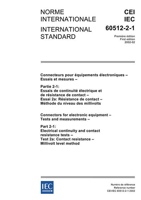 Iec 60512212002  Iecnormen  Vde Verlag