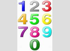 One Sheet of Large Colored Numbers Freeology