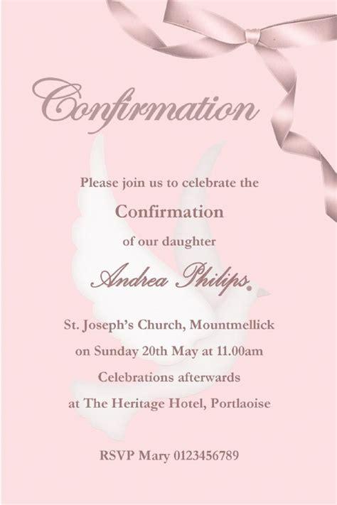personalised confirmation invitations son design