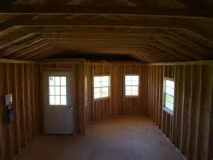 deluxe barn loft cabin 14 x 34 derksen painted portable