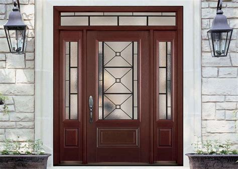 Simple Single Solid Oak Front Doors With Glass , Main