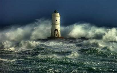 Lighthouse Storm Wallpapers Desktop Screensavers Lighthouses Ocean