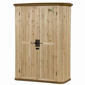 suncast cedar and resin vertical shed wrs4200 the home depot