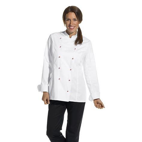 femme a la cuisine veste de cuisine femme manches longues cintrée poche sur