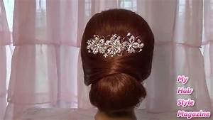 Easy Low bun Wedding Hairstyle for long medium hair tutorial updo YouTube