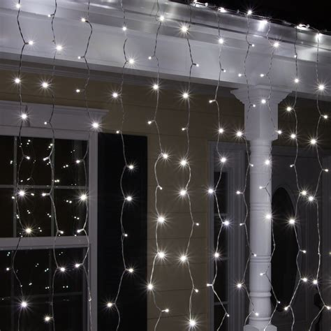 led christmas lights  mm cool white curtain led