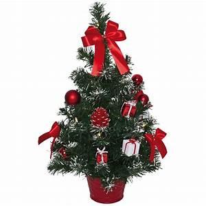 Künstlicher Weihnachtsbaum Klein : geschm ckter kleiner weihnachtsbaum warmwei e lichterkette rote deko 50 cm ebay ~ Eleganceandgraceweddings.com Haus und Dekorationen