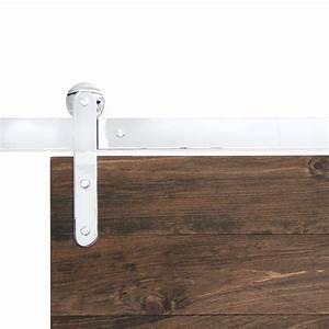 pinnacle chrome flat track hardware barndoorhardwarecom With chrome sliding barn door hardware