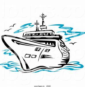 Cruise Ship clipart vector - Pencil and in color cruise ...