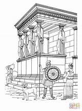 Greek Temple Coloring Erechtheion Ancient History Ausmalbilder Supercoloring Antiga Colorir Colorare Kirtland Temples Greece Eretteo Disegno Artemide Tempio Egypt Cidade sketch template