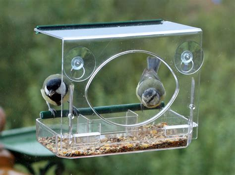 window bird table feeder meripac suction wild clear view