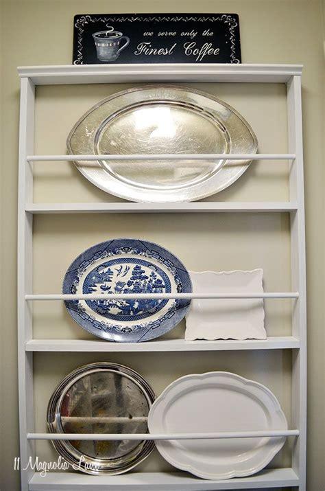 diy custom plate rack   plate racks plate rack wall wooden plate rack