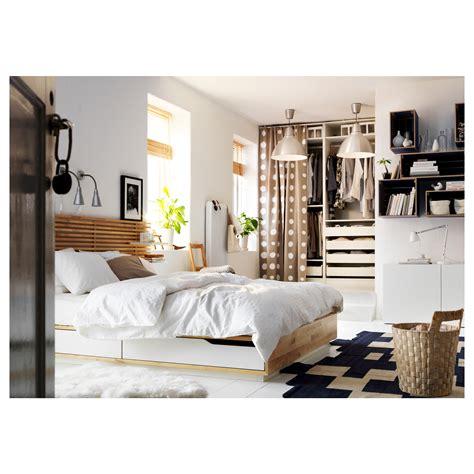 mandal bed frame mandal headboard birch white 240 cm ikea