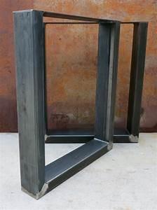 Pied De Table Industriel : pieds de table de m tal de forme u industrielle par ~ Dailycaller-alerts.com Idées de Décoration