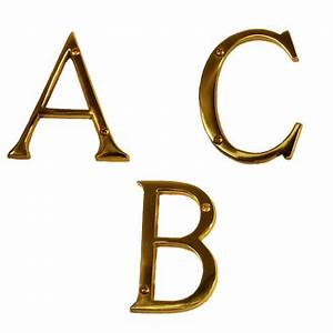 brass accents i07 l91 traditional house letters 4quot low With 4 brass letters
