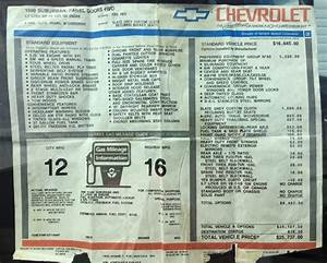 1990 Chevy Suburban Facts  Specs And Statistics