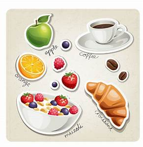 Different breakfast food vector icons material 03 - WeLoveSoLo