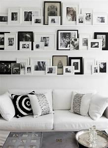 Deko Bilder Schwarz Weiss : 50 fotowand ideen die ganz leicht nachzumachen sind ~ Bigdaddyawards.com Haus und Dekorationen