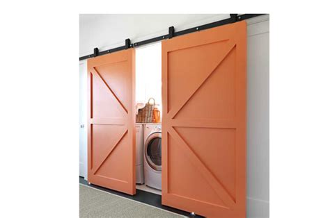 Idea For Kitchen Cabinet - barn doors for your laundry room pretty and practical