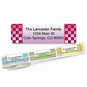 vivid rolled return address labels colorful images With buy address stickers