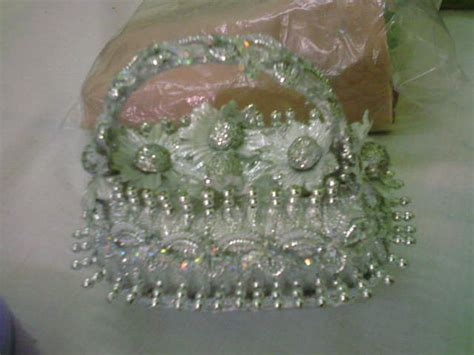 decoration florale en ruban