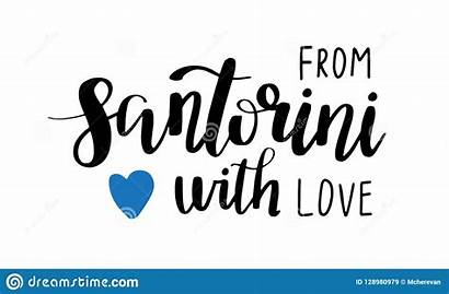 Santorini Phrase Lettering Drawn Sticker Voorzien Letters