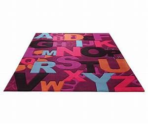 Tapis Pour Chambre Enfant : tapis ludique pour enfant violet abc par esprit home ~ Melissatoandfro.com Idées de Décoration