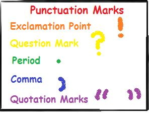 punctuation lesson  kids rules examples video