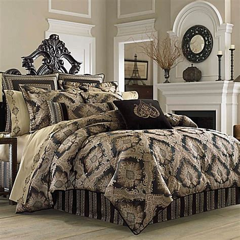 comforter sets queen bed bath and beyond j new york onyx comforter set bed bath beyond