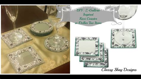 mercury glass votives diy z gallerie inspired ricci coasters dupe