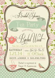 Tea Party Bridal Shower Invitation | Tea Parties, Bridal ...
