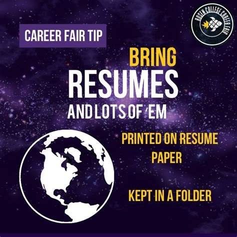 prepare for the career fair