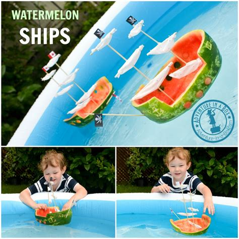 Watermelon Boats Play by Watermelon Ship Summer Craft Adventure In A Box
