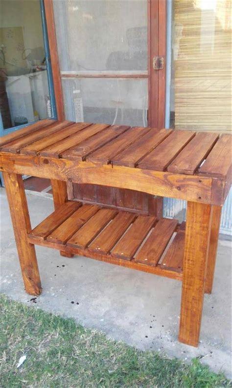 pallet kitchen island   table easy pallet ideas