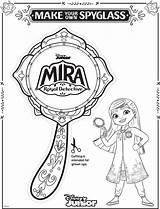 Mira Coloring Detective Royal Spyglass Sheets Sheet Pages Disney Chikku Mikku Enjoy Three sketch template