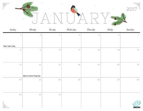 cute  crafty  printable calendar imom