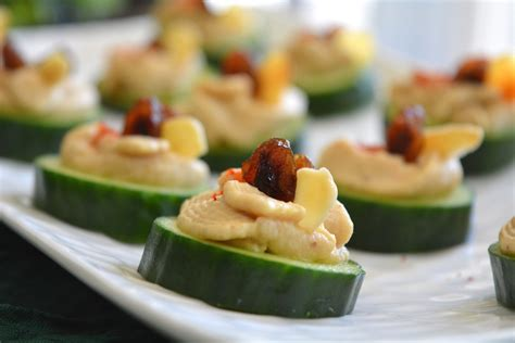 canapes for cucumber hummus canapé my signature dish
