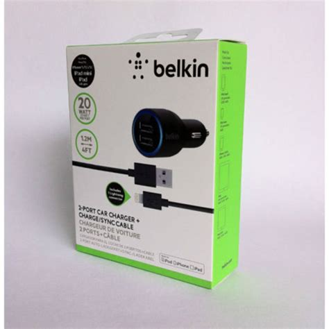 Belkin 2 Car Charger by Belkin 2 Usb Car Charger Lightning Cable For Iphone