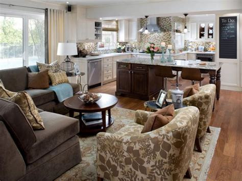 Decorating Ideas For Open Living Room And Kitchen - open plan kitchen design decorating ideas hgtv