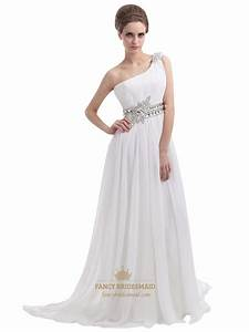 one shoulder chiffon beach wedding dress fancy With chiffon bridesmaid dresses for beach wedding