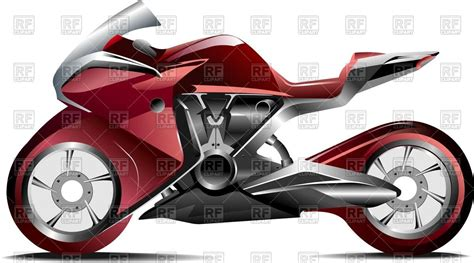 Modern Sport Motorcycle Vector Image