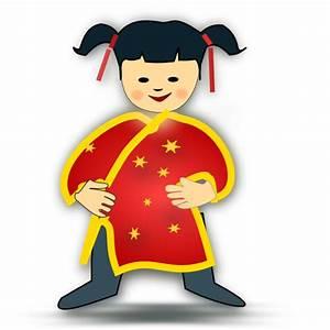 Chinese Girl Clip Art at Clker.com - vector clip art ...