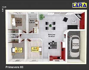 Plan Pour Maison : cuisine primevere maisons lara plan pour maison 90m2 plan pour maison gratuit glamorous plan ~ Melissatoandfro.com Idées de Décoration