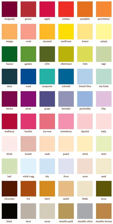 color paint color chart house colors color