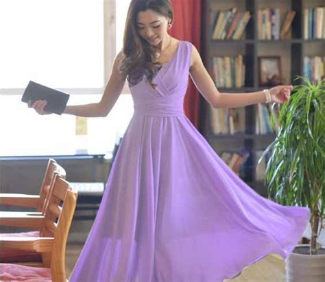 long dress warna ungu cantik terbaru myrosefashioncom