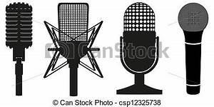 Vectores de micrófonos, Conjunto, icono - icono, Conjunto ...
