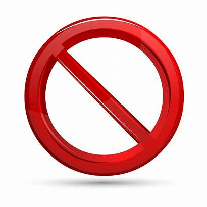 Vector Prohibited Sign Signs Illustration Stop Background