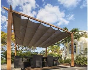 Pergola Mit Sonnensegel : aluminium pergola pavillon sojag florida 11x11 mit verstellbarem sonnensegel 320x320 cm ~ Avissmed.com Haus und Dekorationen