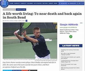 Gay tennis player at Notre Dame writes about struggle ...