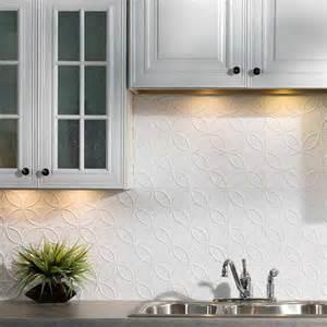 Kitchen Backsplash Panel Fasade Backsplash Rings In Matte White